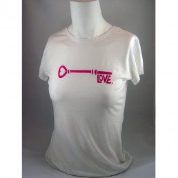 Love is the Key® Pink Logo Organic Bamboo and Cotton Blend T-Shirt