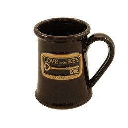 Love is the Key® Hand Thrown Stoneware Coffee Mug