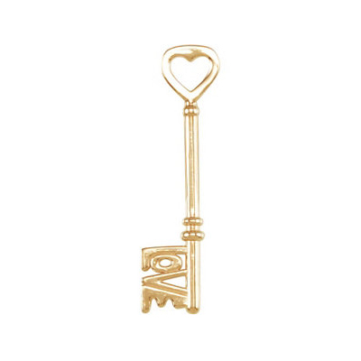 Original 14K Yellow Gold Love is the Key® Pendant