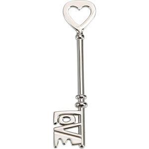 Original Sterling Silver Love is the Key® Signature Pendant